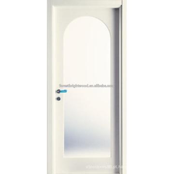 Arco Top branco Prime MDF escultura portas com vidro