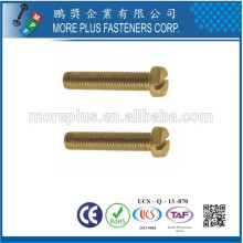 Fabricado em Taiwan De alta qualidade DIN84 Padrão parafuso M3 Slotted Cheese Head Machine Screws