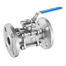 DIN 3202-F1 Stainless Steel Three Pieces Flange Type Ball Valve
