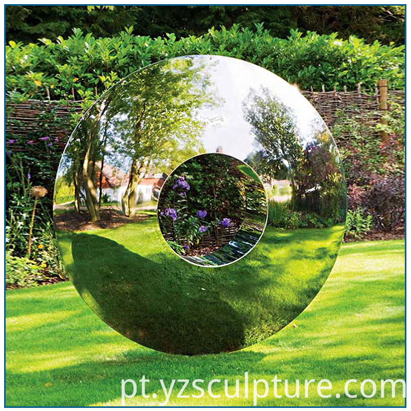 stainless steel circle sculpture