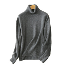 Turtleneck sweater pullover 100% cashmere cable knit sweater 5gg thick oversize winter sweaters