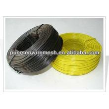 electro galvanized steel wire with plastic coat