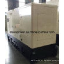 Leiser Dieselgenerator 275kVA 220kw lärmarm für Hotel