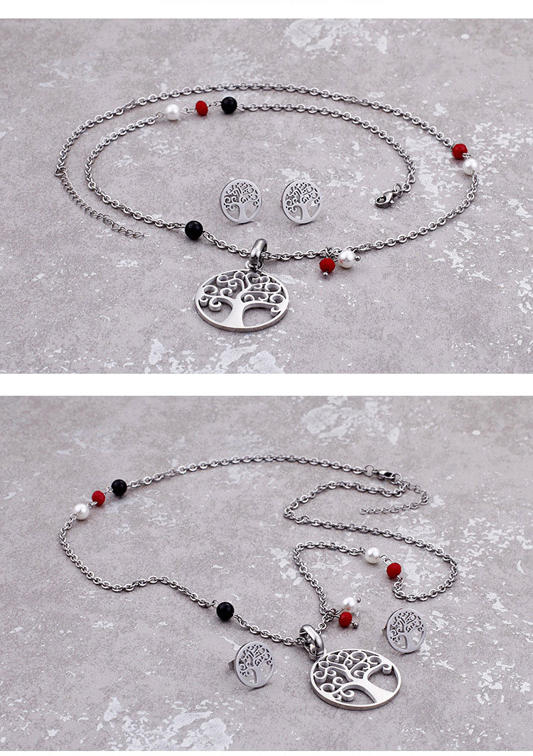 Tree shape jewelry set