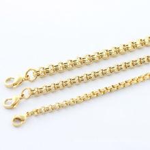2014 moda dignidade colar e high-end colar de ouro de alta polonês em aço inoxidável colar de jóias colar homens