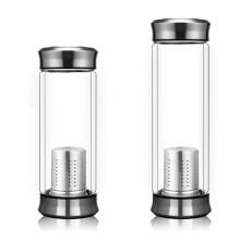 В17 чай придают бутылка для воды двойная стеклянная чашка боросиликата стеклянная бутылка
