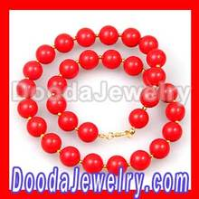 2013 New Fashion 14mm Coral Red J Crew Bubble Bib Necklace Wholesale
