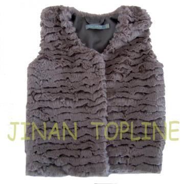 Girl's Fake Fur Vest  Warm