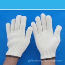 7 gauge bleached white cotton knitted working gloves 600 grams