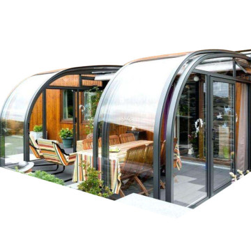 Sun House Sunroom de policarbonato con techo retráctil