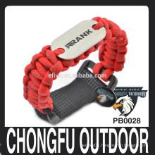 laser engraving dog tag paracord bracelet