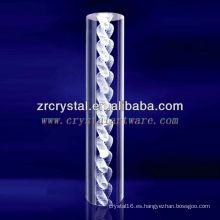 K9 3D Laser Chain grabado cristal con forma de pilar