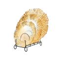 Gold trim glass plates