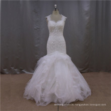 modern western champagne dress wedding bridal gown mermaid