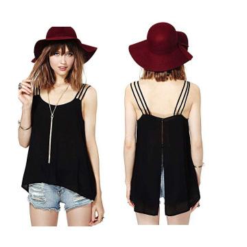 OEM-одежда 2015 новейших дизайн Sexy случайных дамы шифон блузка
