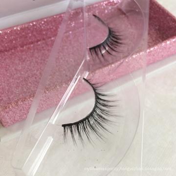 Popular Styles Synthetic Fiber 3D silk eyelash with custom eyelash box