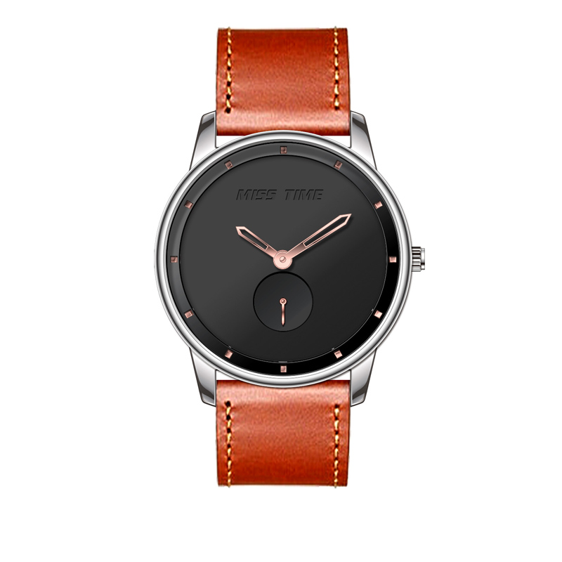 distributors and wholesalers 3atm stainless steel back leather straps quartz watch