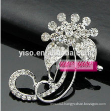 crystal corsage leaf jewelry brooch