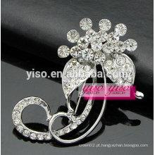Broche de jóias de folha de corsage de cristal