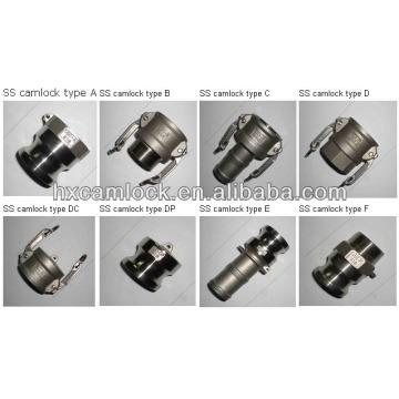 hongxing stainless steel 316 camlock coupling hose fitting