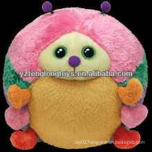 Colorful design sphere cute plush ladybug toy