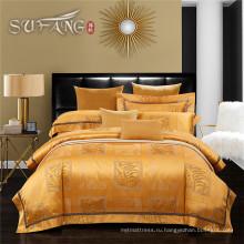 Роскошные Ягэ дом постельное белье 300TC Добби ткань кровать лист комплект кровать жаккардовые выкладывать