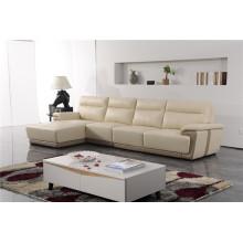 Sofá de salón con sofá moderno de cuero genuino (423)