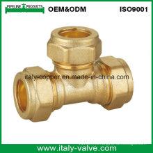 15mm CE Certified latón forjado compresión Igual Tee (AV7013)