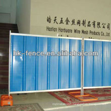 35mm x 40mm x 35mm Cross channel 2mx2.1m Construction Site Corrugated Temporary Colored Steel Hoarding Fence Panel