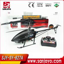 Girocompás del helicóptero del rc de la aleación de aluminio 2.4G 827A-3.5CH con LED
