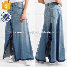 Nueva moda Frayed falda de mezclilla Maxi DEM / DOM Fabricación al por mayor de las mujeres de la manera de la ropa (TA5188S)
