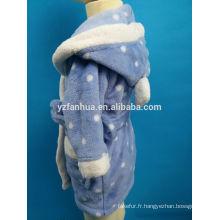 Groupe d'âge des enfants customed Polyester Coral fleece peignoir