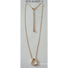 Triangle Hollow Necklace with Metal