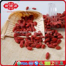 Secado de bayas de goji alimentos saludables