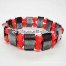 01B5002-3 / novos produtos para 2013 / hematite pulseira espaçador jóias / bracelete hematita / pulseiras de saúde hematita magnético