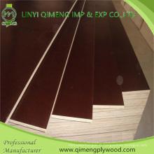 Excellente fabrication Produire 1220X2440X9-18mm Étanche en bois brun ou noir Poplar ou Hardwood Core Film contreplaqué pour construction