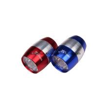 Aluminium-Legierung Schlüsselanhänger Taschenlampe mit Knopf Batterie