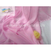 30D Pink dyed light weight Chiffon For Summer Dress