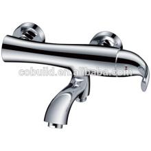 KES-05 Fisch Design Badezimmer einzigen Griff verchromt Bad Dusche Wasserhahn Mischbatterie, ausgesetzt Wand montiert Bad Dusche