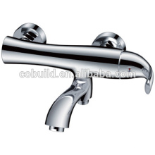 KES-05 fish design bathroom single handle chrome plated bath shower faucet mixer tap, exposed wall mounted bathroom mixer shower