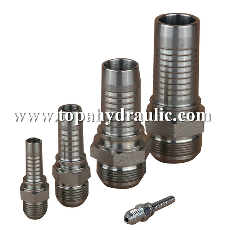 16711 Galvanized Carbon Steel Thread Hydraulic Fittin