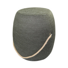 Army green round wood stools