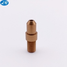 Truning machining gold anodized aluminum pen parts