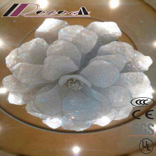 Hotel Decorative Modern Big Flowers Spectacular Crystal Hotel Project Pendant Lamp