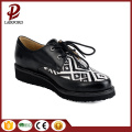 flat anti-skidding lacing PU comfortable girl shoes