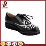 flat anti-skidding lacing PU comfortable girl shoes