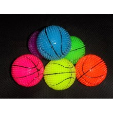 Flashing Neon Color Spiky Basketballs