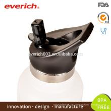 Bester Verkauf 20oz trinkender Thermo-Edelstahl-Stroh-Deckel-Wasser-Flasche