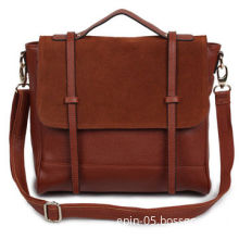 Brown Leather Messenger Bag, Fashionable Design, OEM or ODM Orders WelcomedNew