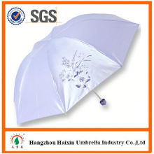 OEM/ODM Factory Wholesale Parasol Print Logo new sex beautiful girl picture manual open 3 fold umbrella